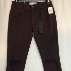 DL1961 Jeans Maroon-Margaux-Instasculpt SZ 25